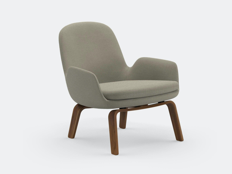 Normann Copenhagen Era Low Lounge Chair Walnut Base Breeze Fusion 4104 Simon Legald