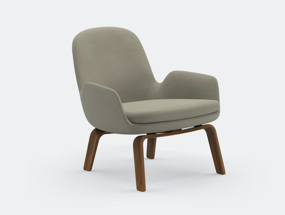 Era Low Lounge Chair Wood Base image