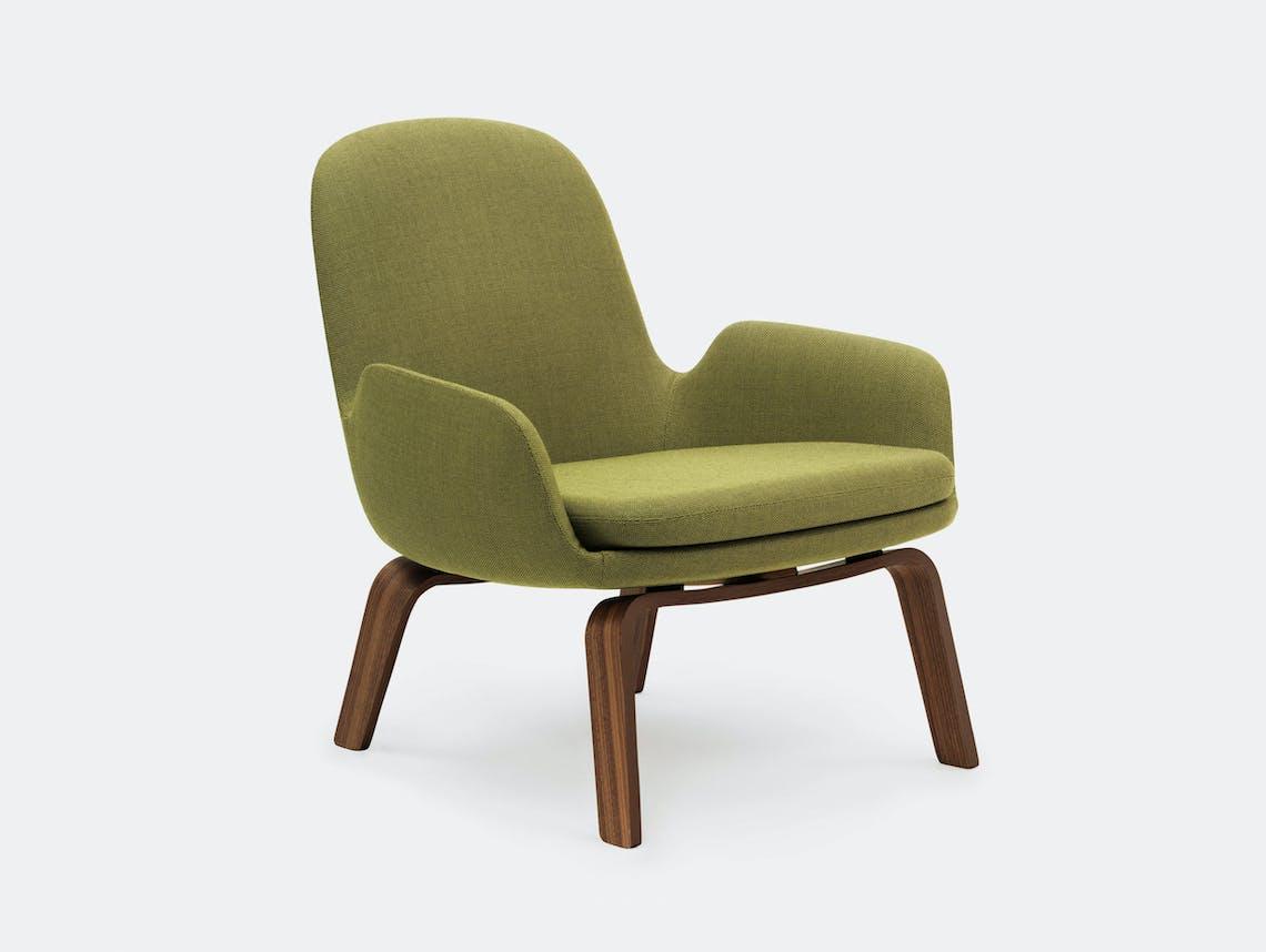 Normann Copenhagen Era Low Lounge Chair Walnut Base Breeze Fusion 4801 Simon Legald