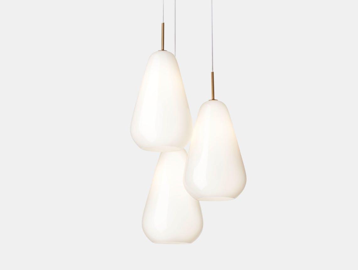 Nuura Anoli 3 Pendant Light Opal Glass Sofie Refer