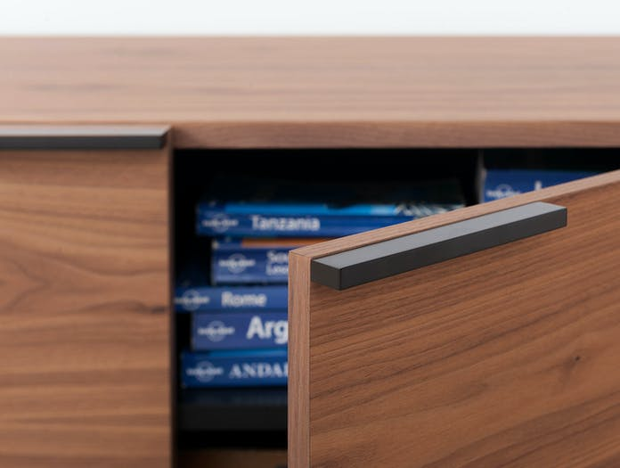 Pastoe Frame Sideboard Walnut Door Detail