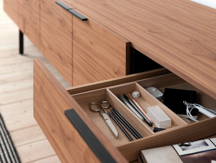 Pastoe Frame Sideboard Walnut Drawer Detail