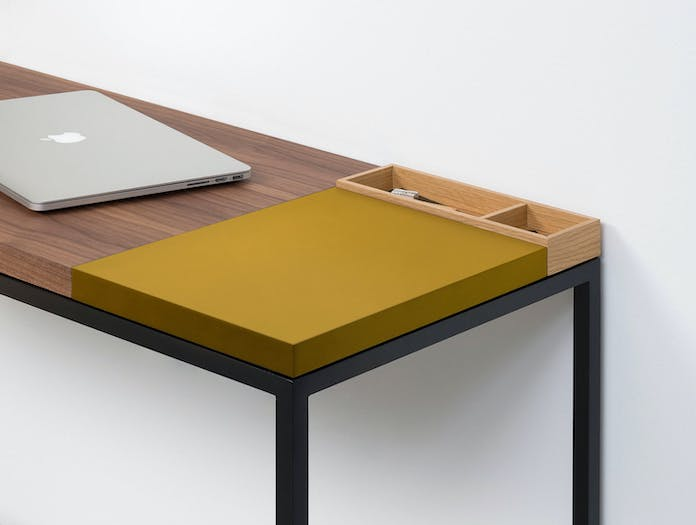 Pastoe Plato Walnut Desk With Ginger Section X02