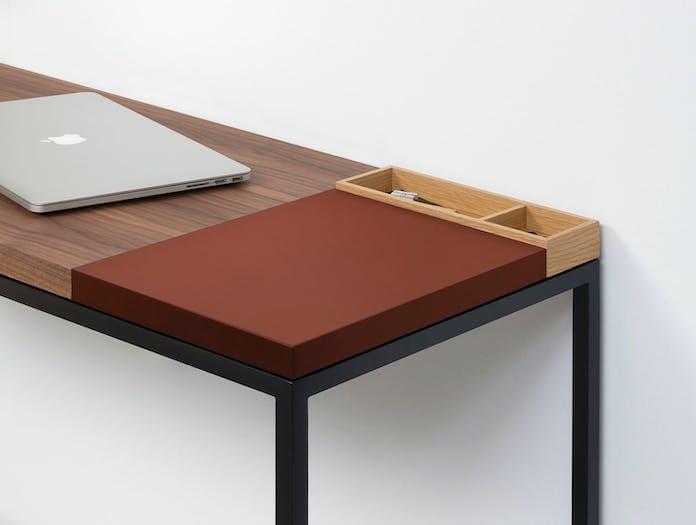 Pastoe Plato Walnut Desk With Sienna Section X02