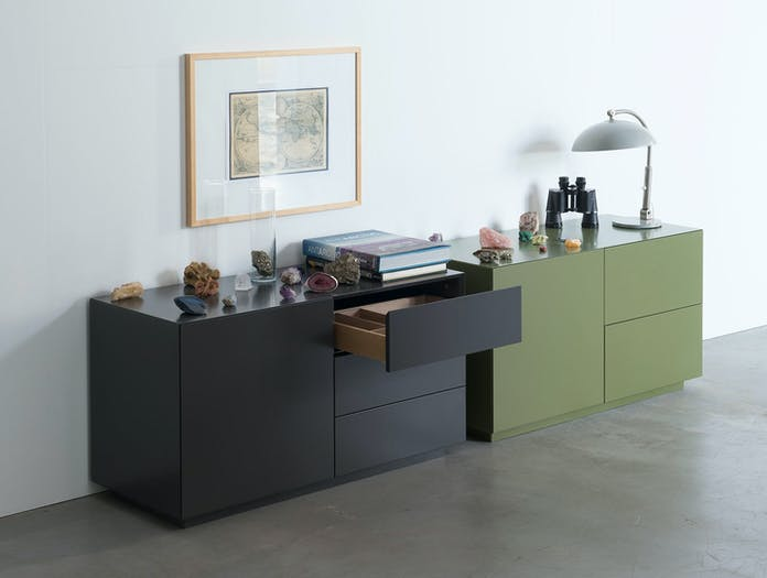 Pastoe Vision Sideboards V451 A Basalt V451 B Olive