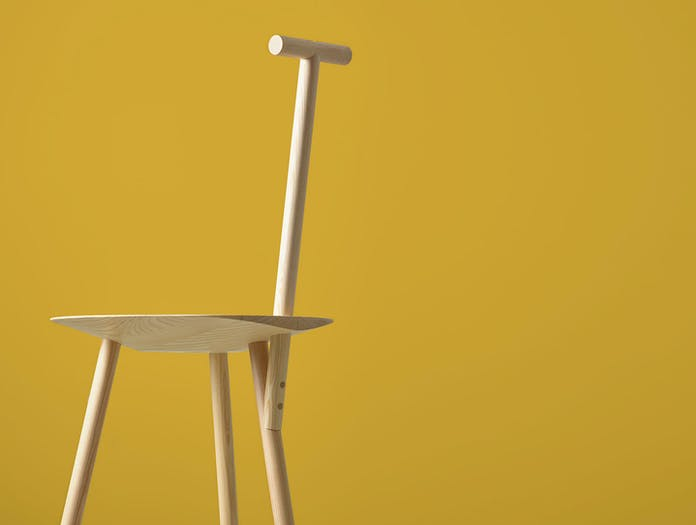 Please Wait To Be Seated Spade Chair Ash Detail