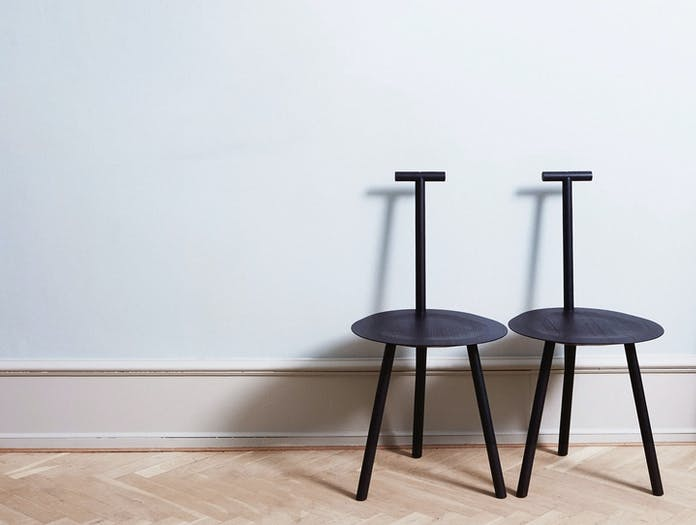 Please Wait To Be Seated Spade Chairs Blue Faye Toogood