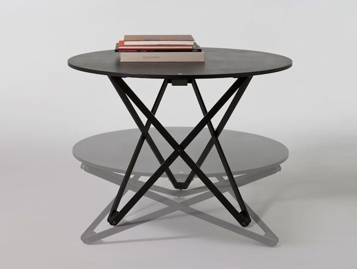 Santa And Cole Subeybaja Adjustable Table Black Oak Robert Heritage Roger Webb