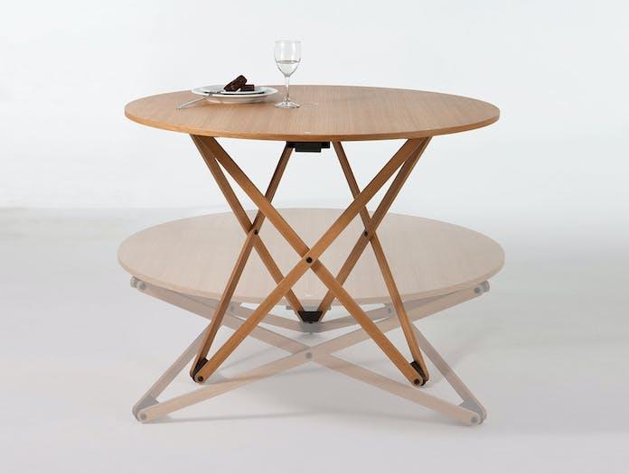 Santa And Cole Subeybaja Adjustable Table Oak Robert Heritage Roger Webb