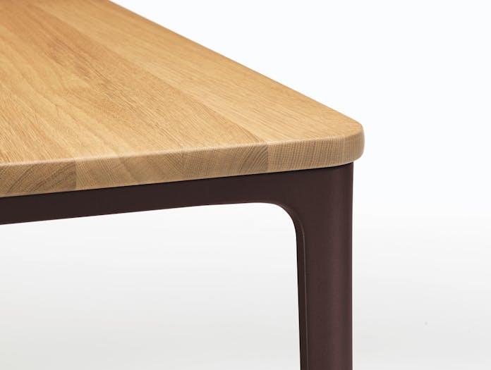 Vitra Plate Dining Table Oak Top Chocolate Frame Detail Jasper Morrison