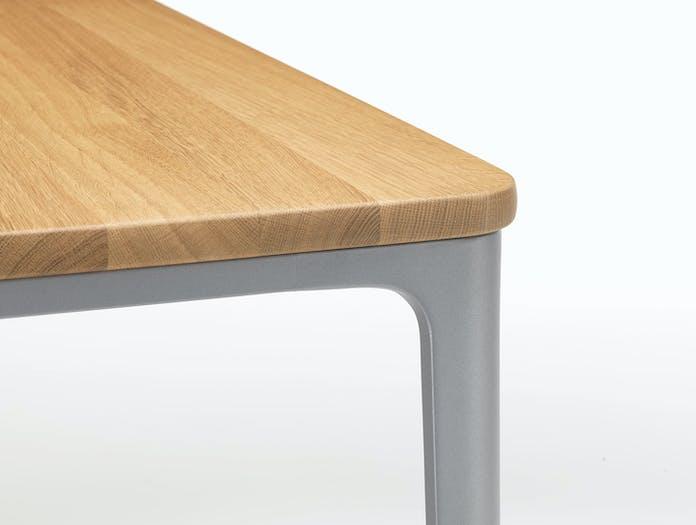 Vitra Plate Dining Table Oak Top Grey Frame Detail Jasper Morrison
