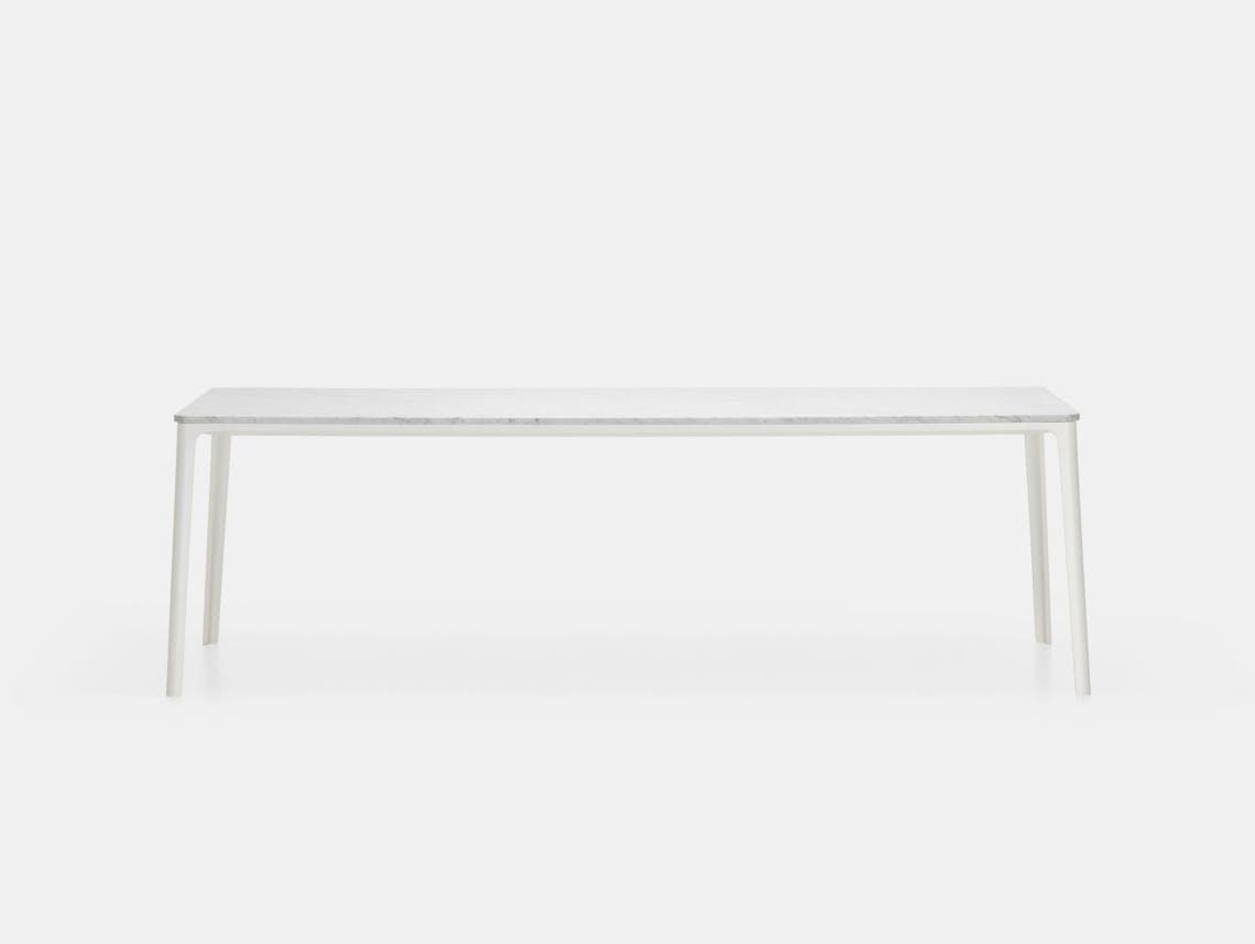 Vitra Plate Dining Table White Marble White Frame Jasper Morrison