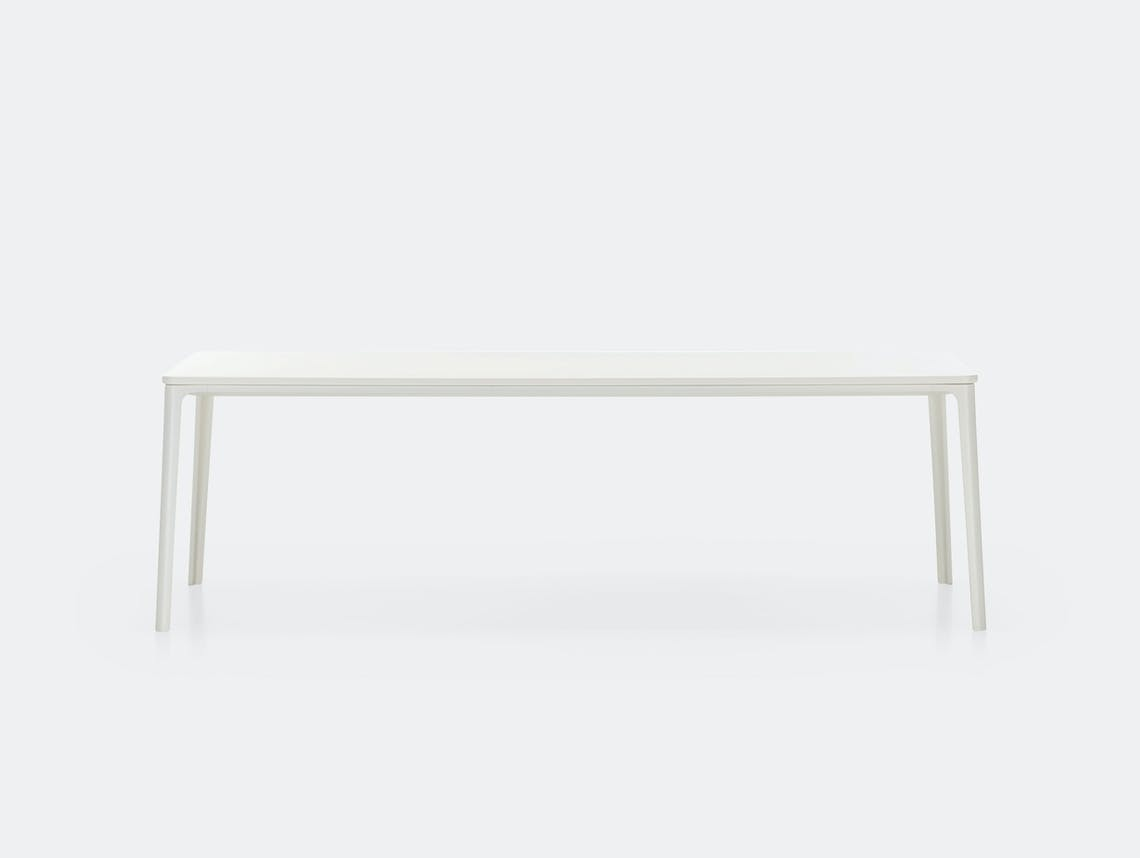 Vitra Plate Dining Table White Mdf White Frame Jasper Morrison