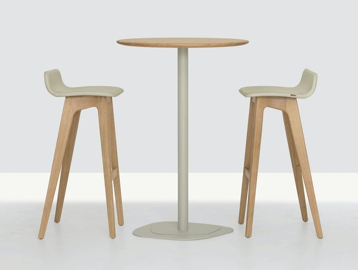 Zeitraum Morph Bar Stool Oak Full Upholstered 2 Formstelle