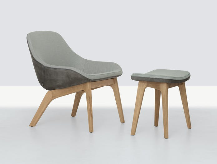 Zeitraum Morph Lounge Chair And Footstool Formstelle