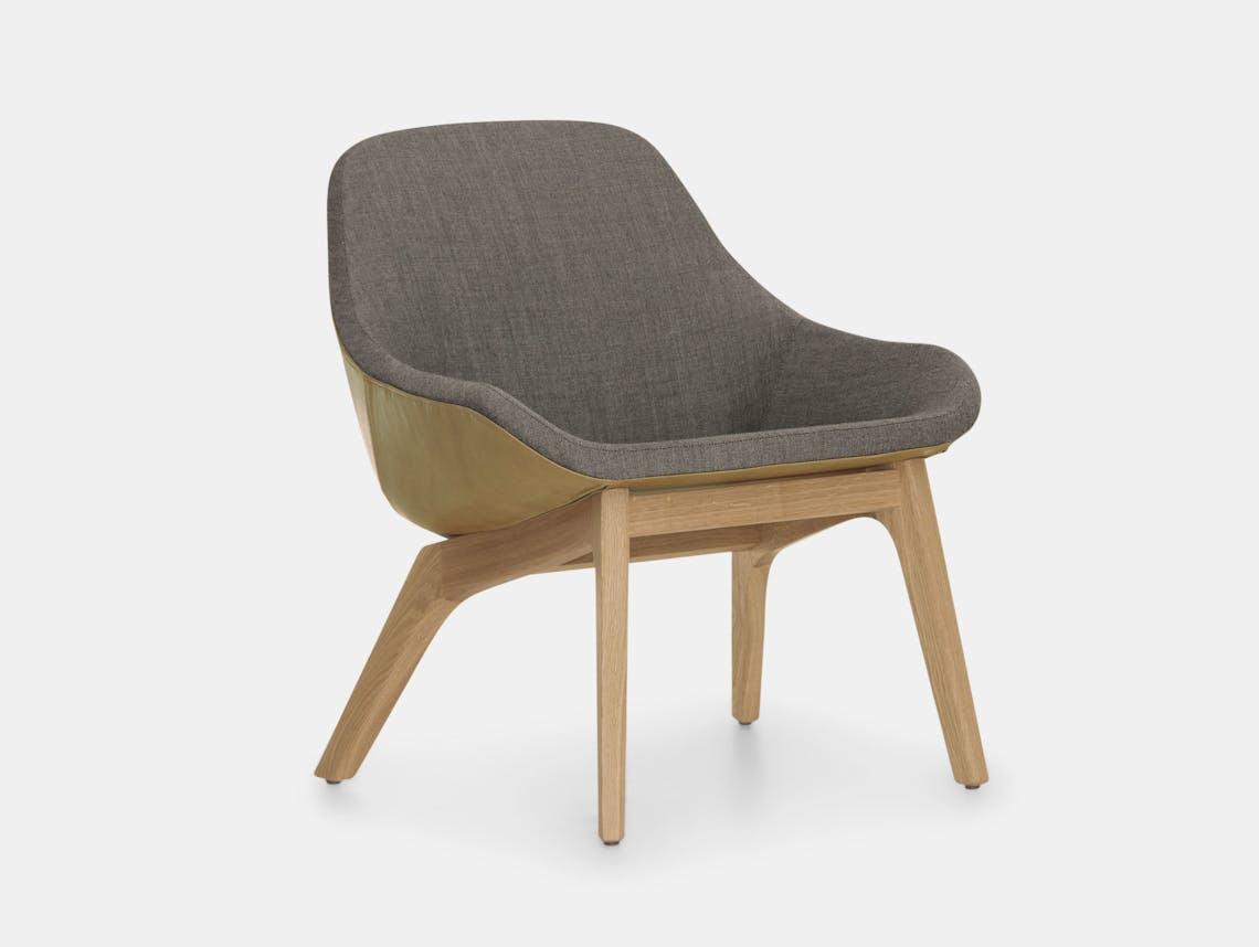 Zeitraum Morph Lounge Chair Oak Leather Remix Formstelle