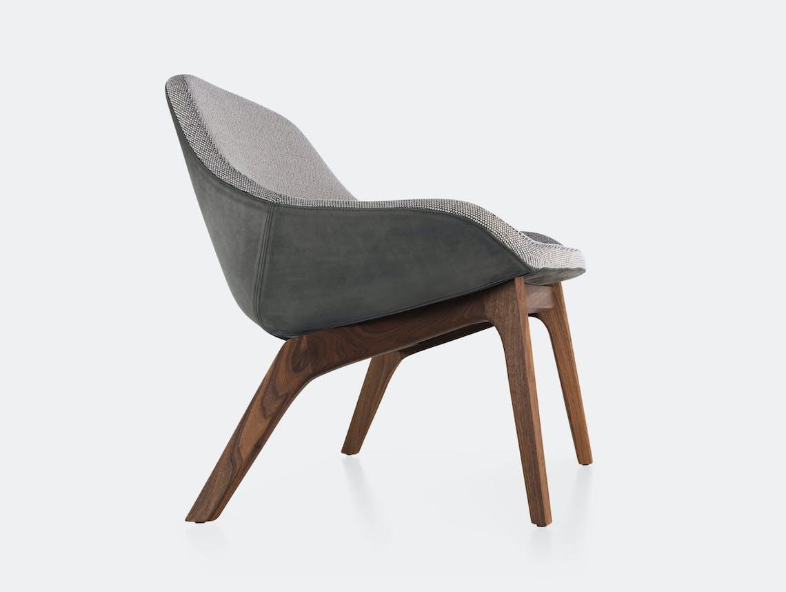 Zeitraum Morph Lounge Chair Walnut Leather Opera Formstelle