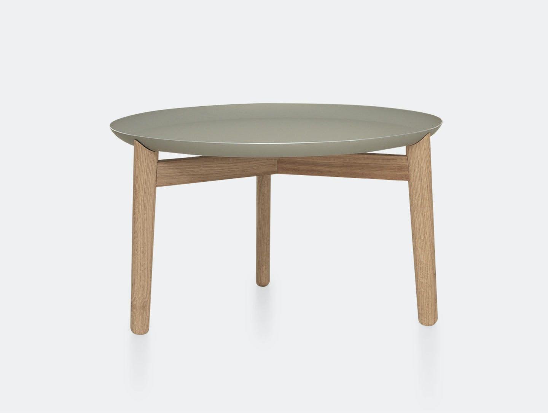 Zeitraum Plaisir Table Oak Grey Top Dia54 H32 Formstelle
