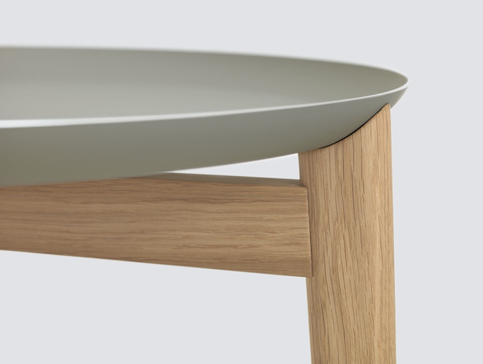 Zeitraum Plaisir Table Oak Pebble Grey Top Detail Formstelle