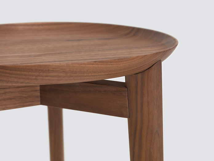 Zeitraum Plaisir Table Walnut Detail Formstelle