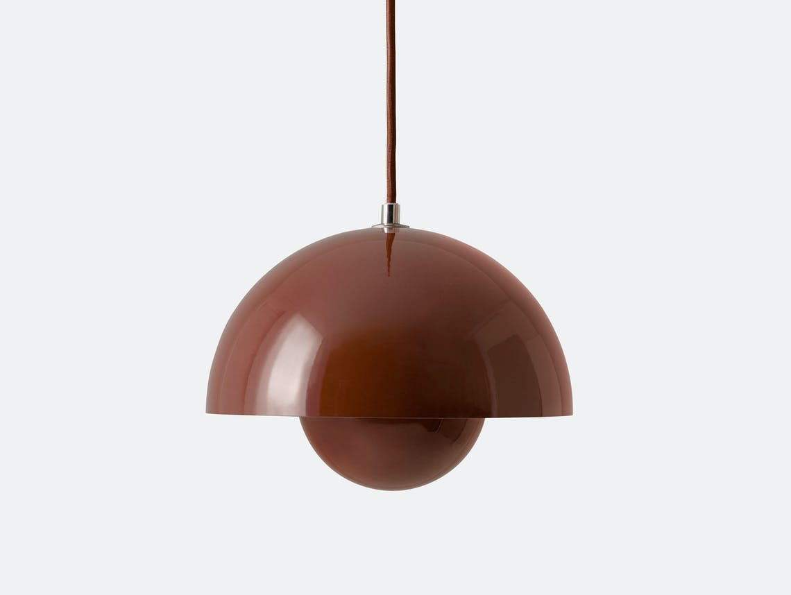 And Tradition Flowerpot Pendant Light Red Brown Panton