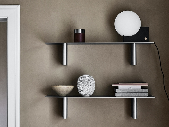 And Tradition Column Shelves Ja2 Aluminium