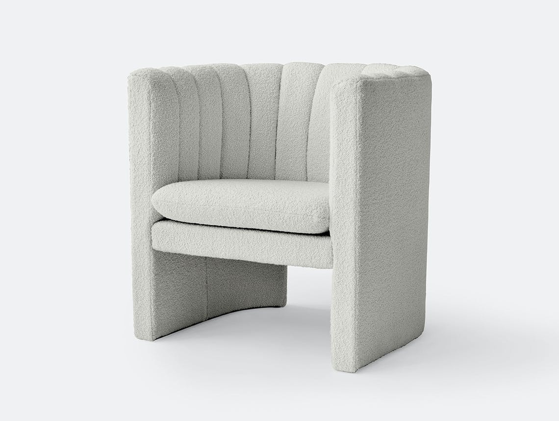 Andtradition Loafer Lounge Chair Karokorum Ivory