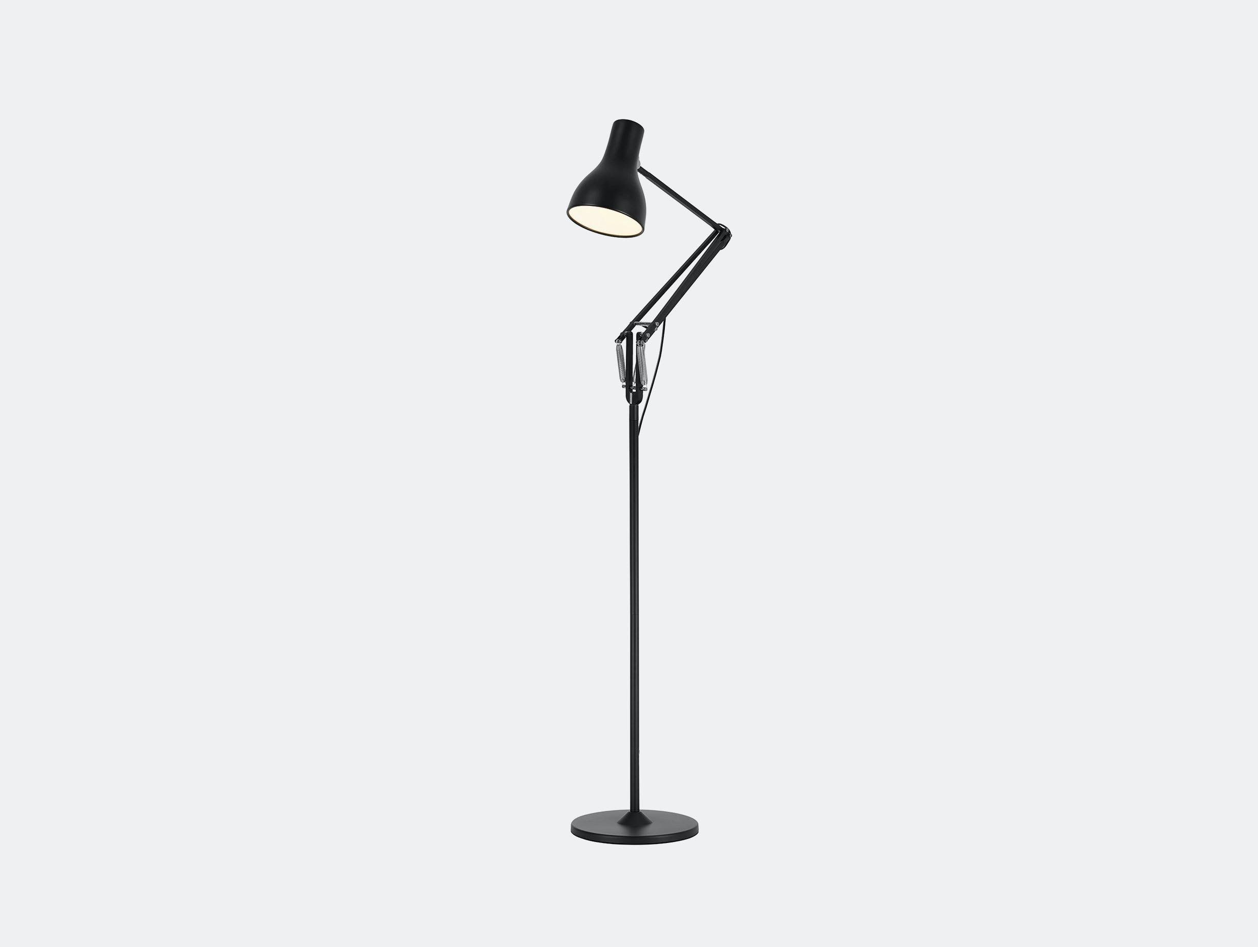 Anglepoise Type 75 Floor Lamp Jet Black