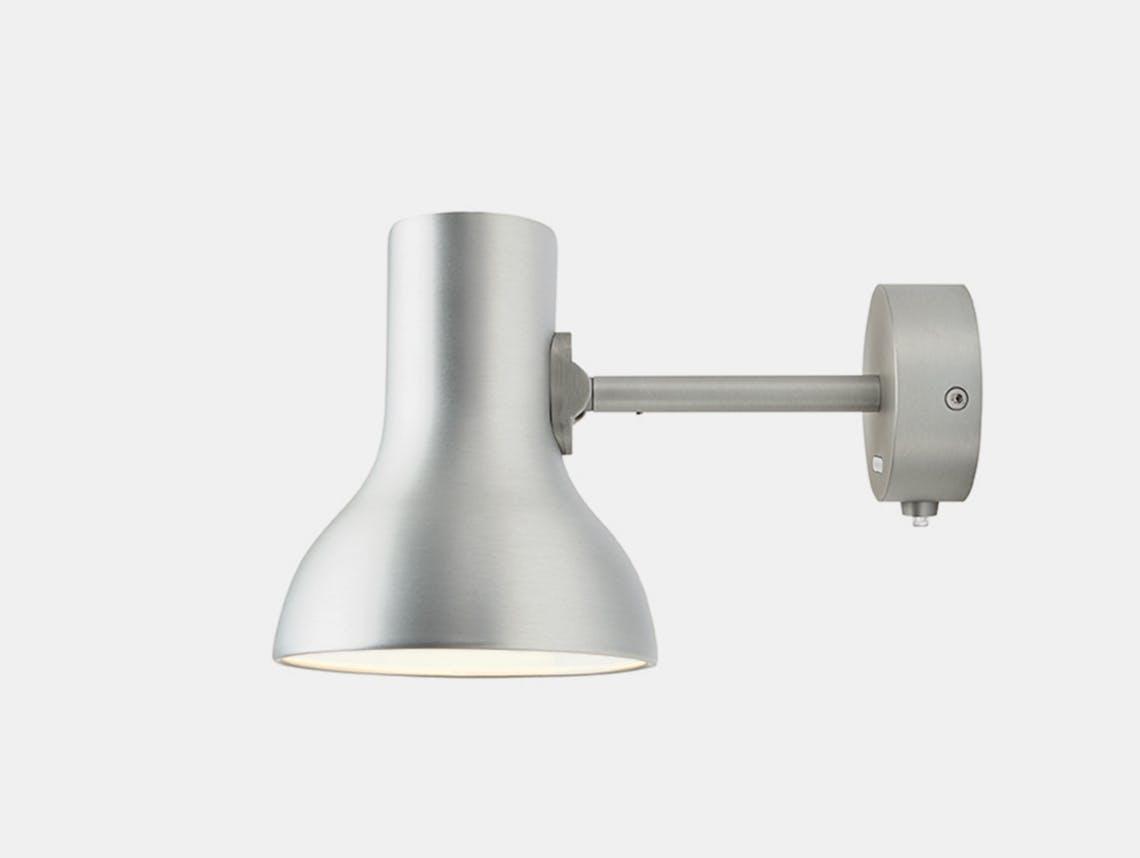 Anglepoise Type 75 Mini Metallic Wall Light Silver