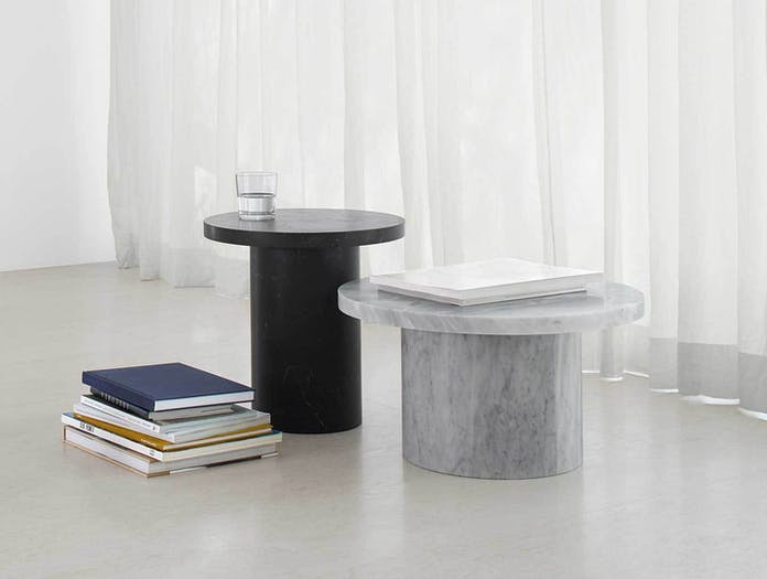 E15 Enoki Migoto Side Tables White Black Philipp Mainzer