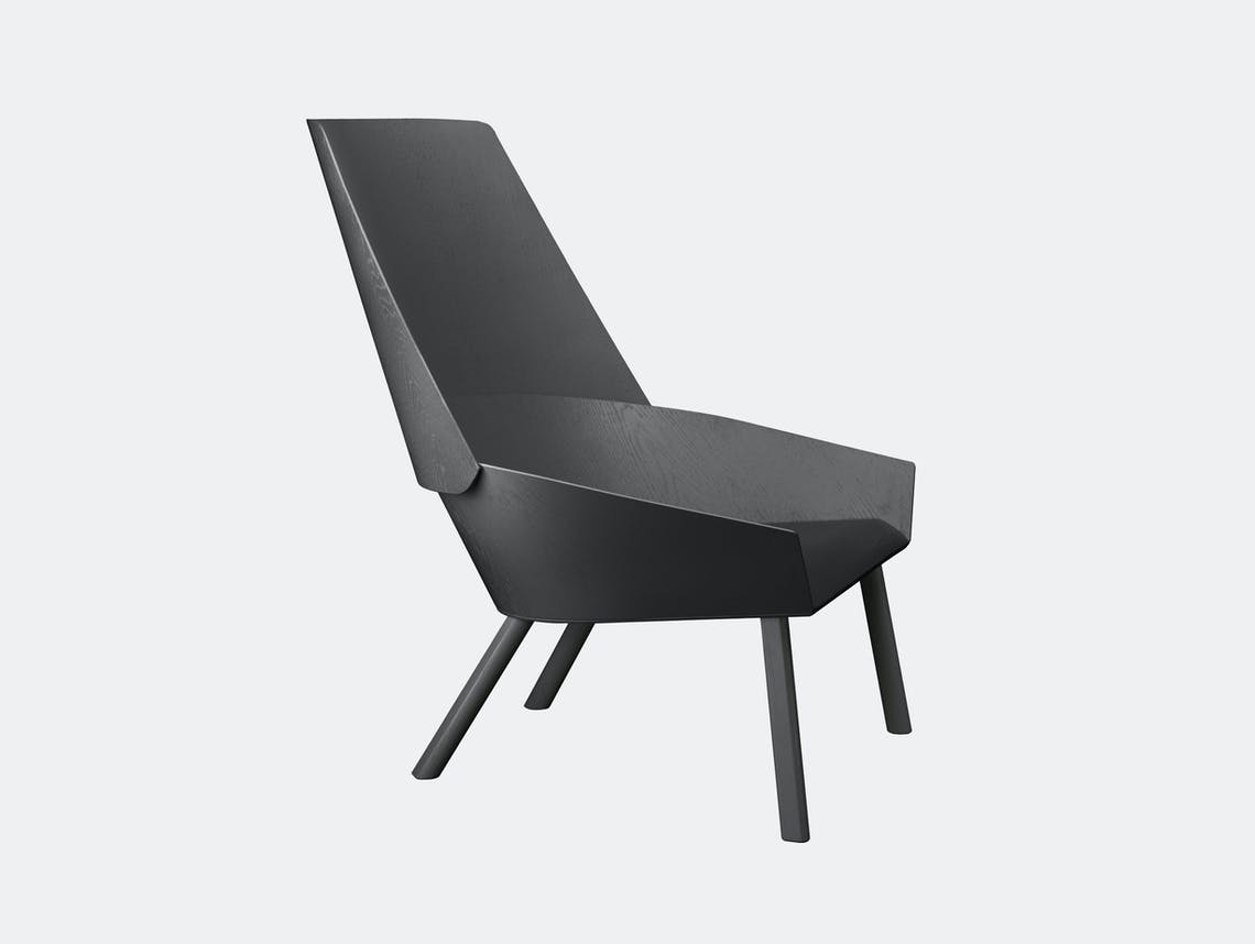 E15 Eugene Lounge Chair Black Stefan Diez