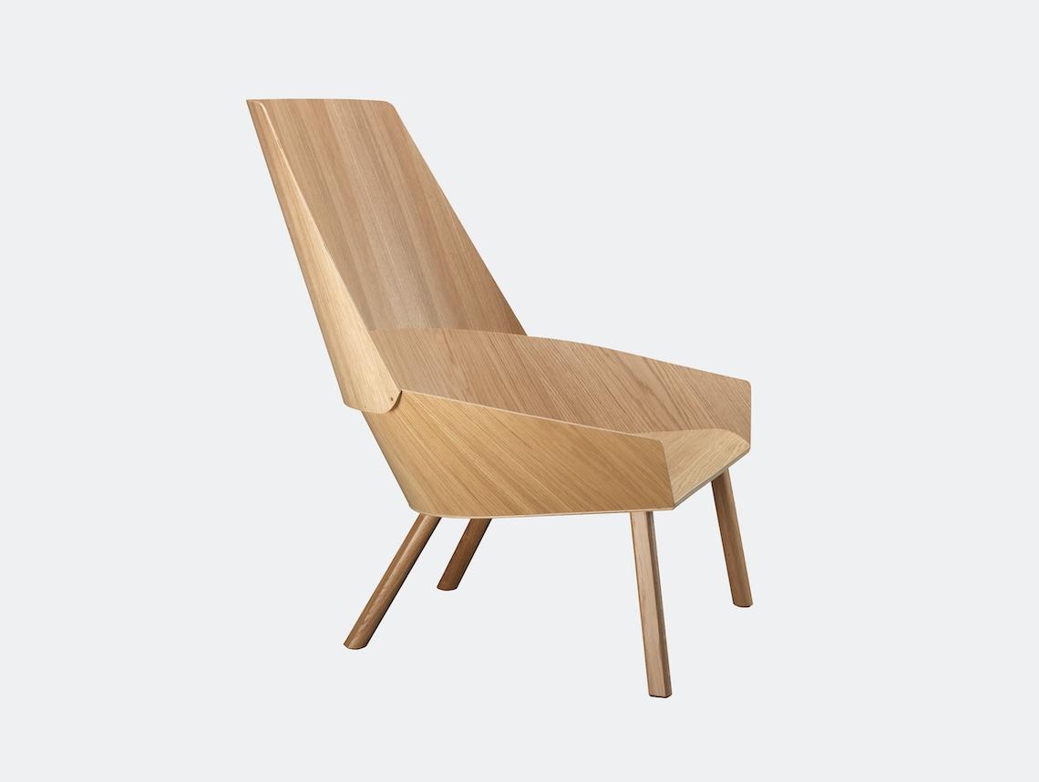 E15 Eugene Lounge Chair Oak Stefan Diez
