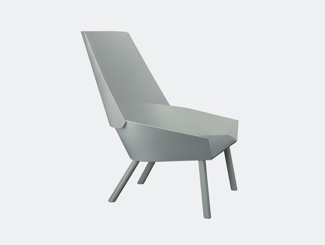 E15 Eugene Lounge Chair Traffic Grey Stefan Diez