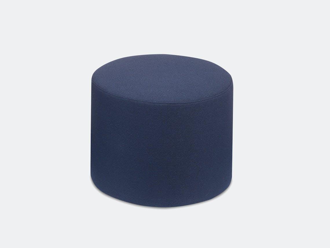 E15 Kerman Pouf Blue Fabric