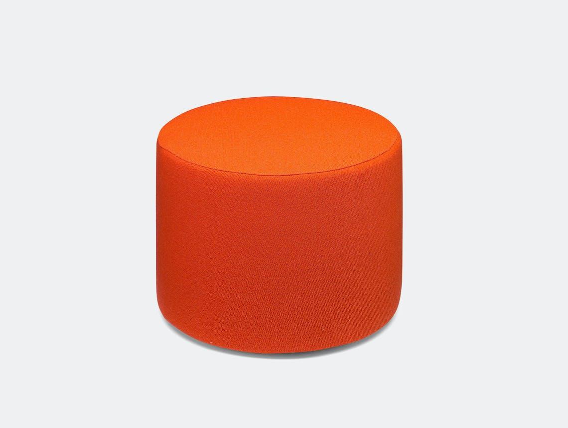 E15 Kerman Pouf Orange Fabric