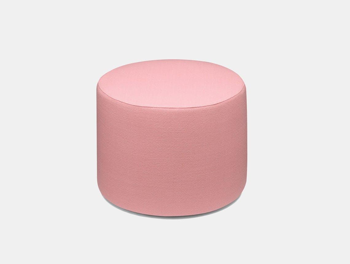 E15 Kerman Pouf Pink Fabric