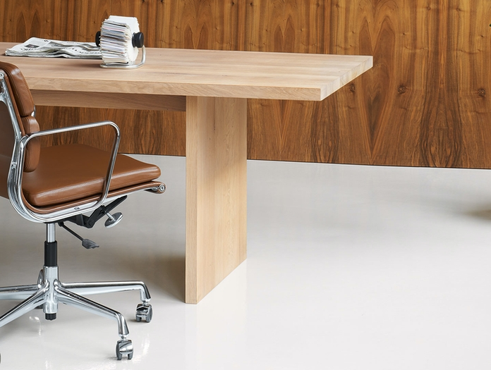 E15 Ashida Table Detail Eames Chair