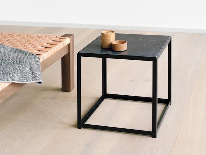 E15 Forty Forty Side Table Black Marble Ferdinand Kramer