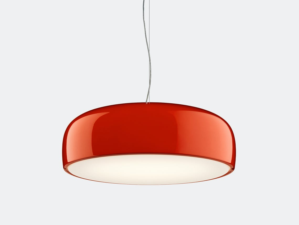 Flos smithfield pendant light glossy red 3