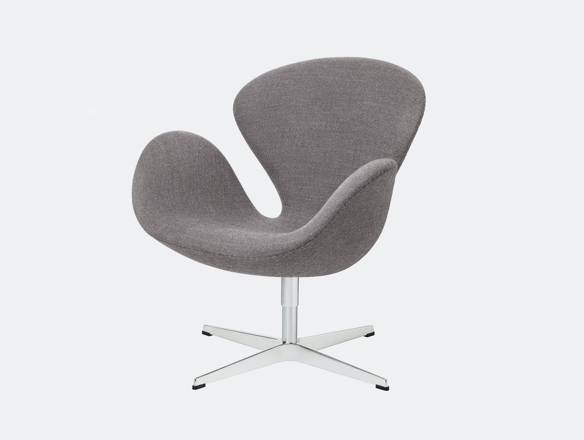 Fritz Hansen Swan Lounge Chair Dark Grey