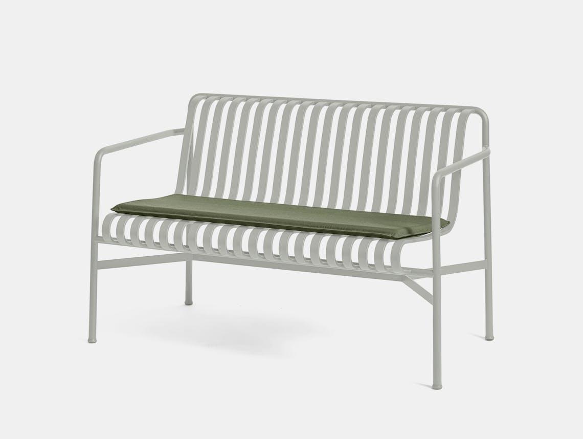 Hay palissade dining bench w seat pad 1