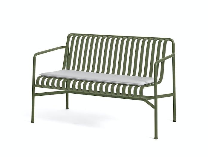 Hay palissade dining bench w seat pad 3
