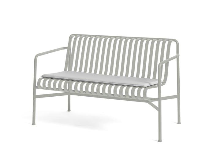 Hay palissade dining bench w seat pad 4