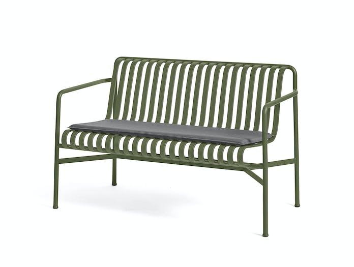 Hay palissade dining bench w seat pad 6