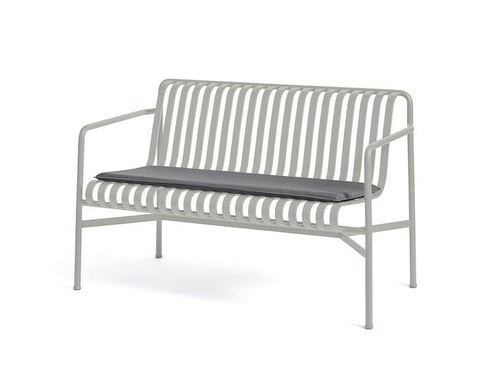 Hay palissade dining bench w seat pad 7 1