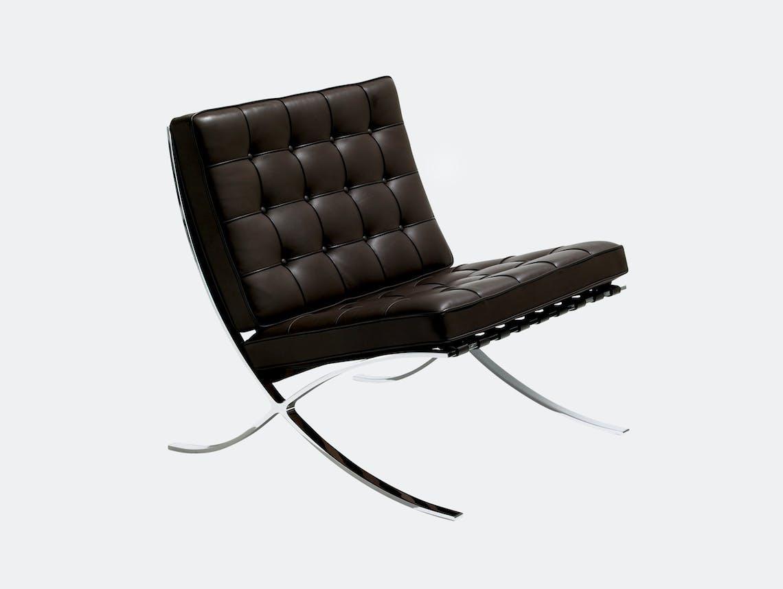 Knoll Barcelona Chair Brown