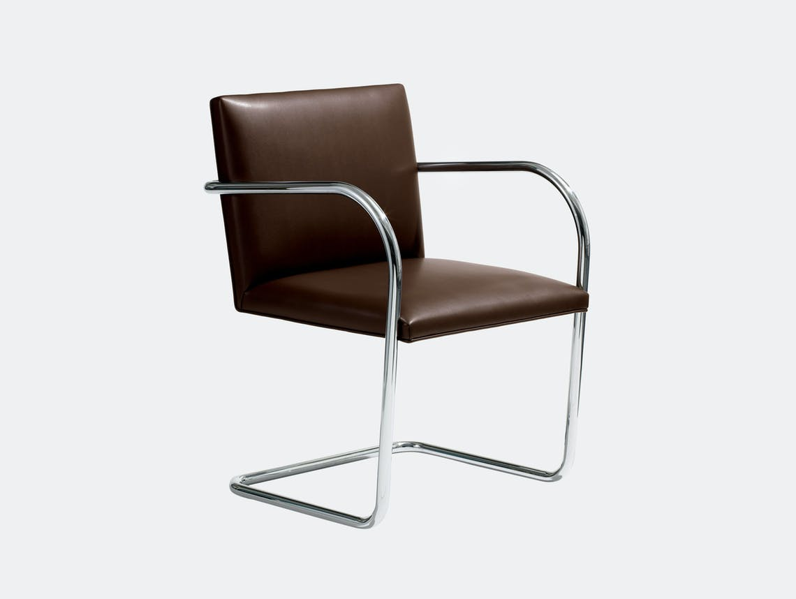 Knoll Brno Chair Brown Leather