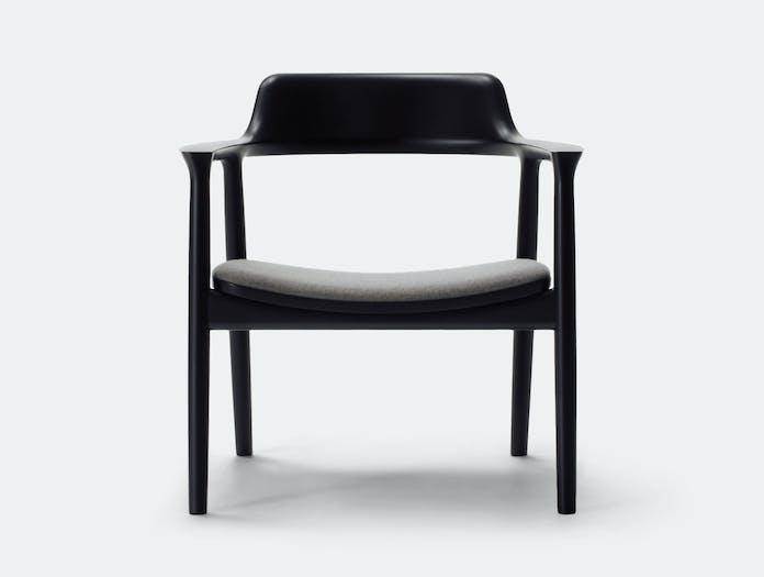 Maruni Hiroshima Lounge Chair Black Naoto Fukasawa