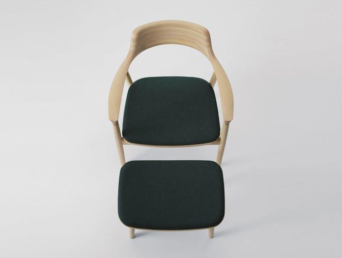 Maruni Hiroshima Lounge Chair Footstool Naoto Fukasawa