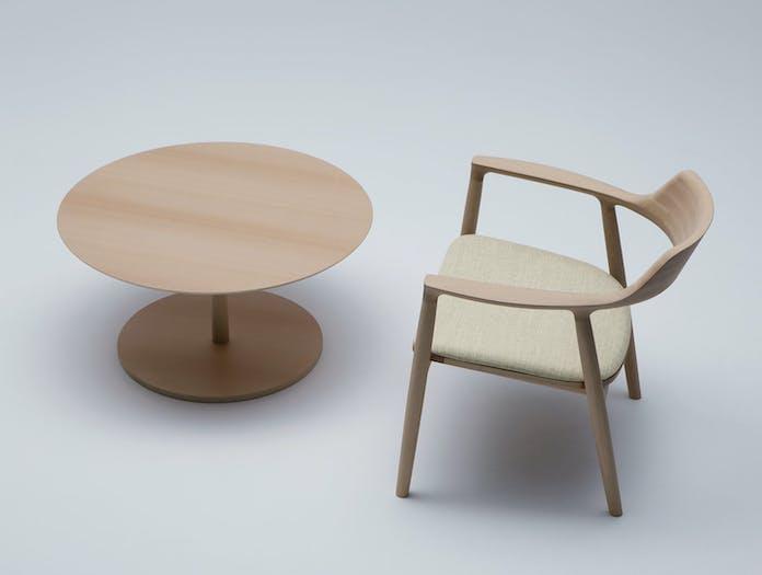 Maruni Hiroshima Lounge Chair Side Table Naoto Fukasawa